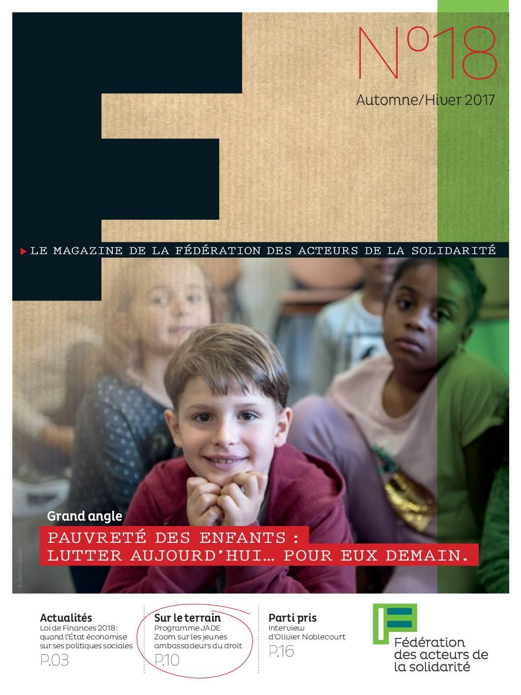 F #18 - Pauvreté des enfants : lutter aujourd'hui... Pour eux demain.
