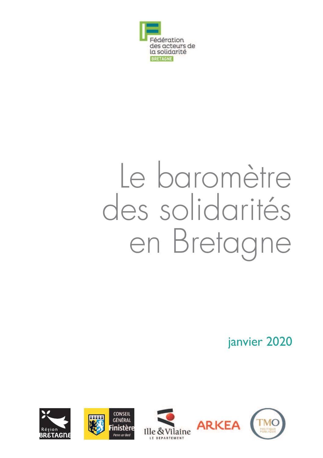 Le baromètre des solidarités en Bretagne
