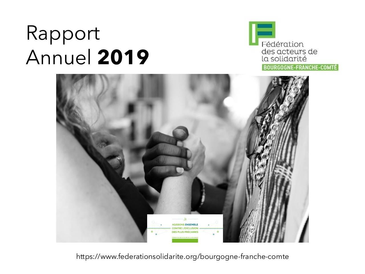 Bourgogne Franche-Comté – Rapport d'activité 2019