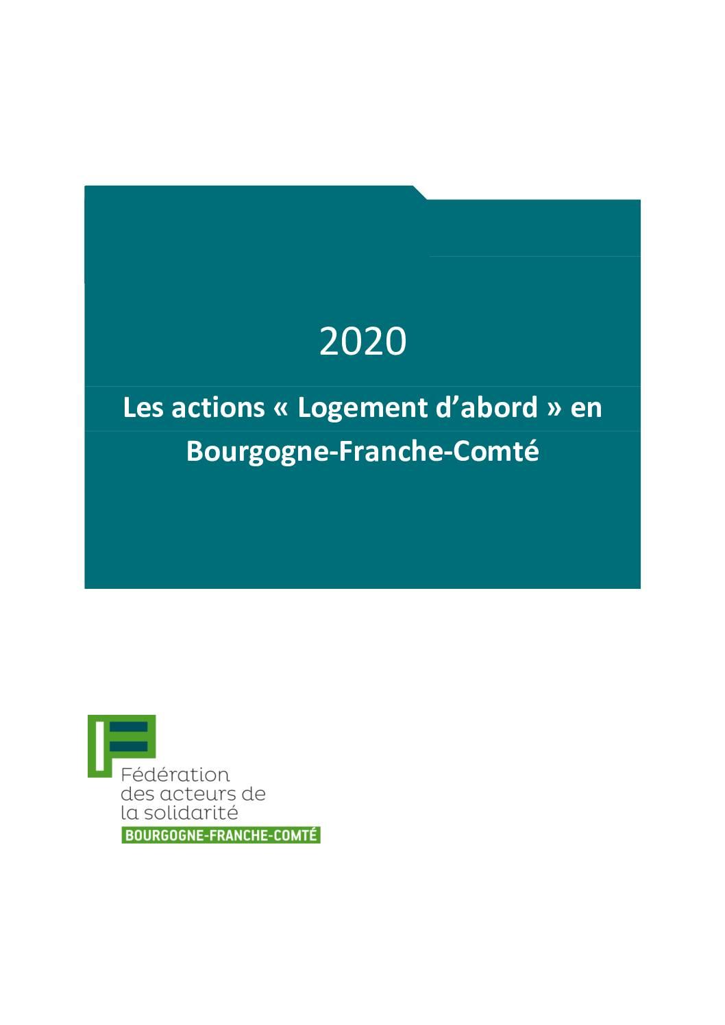 Guide 2020 des actions Logement d'abord en Bourgogne-Franche-Comté