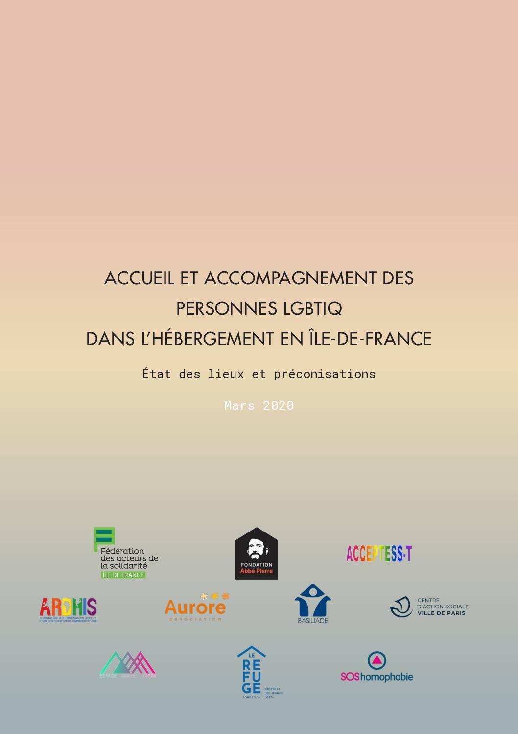 Accueil et accompagnement des personnes LGBTIQ dans l'hébergement en IdF