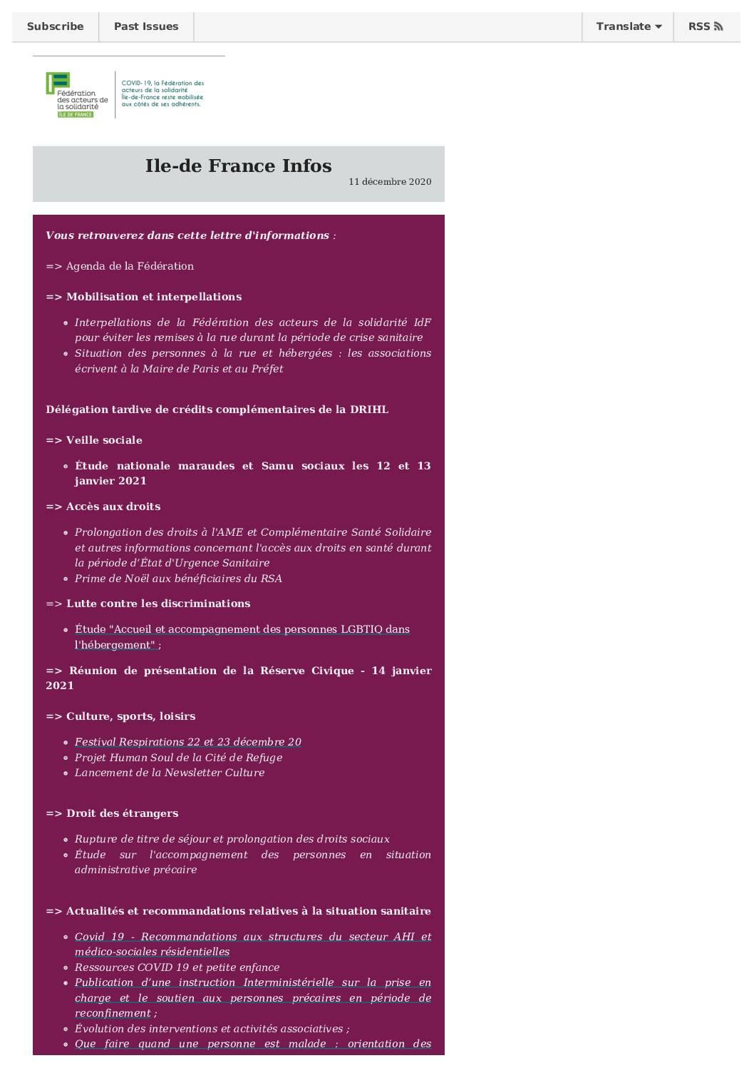 Ile-de-France infos 18 décembre 2020