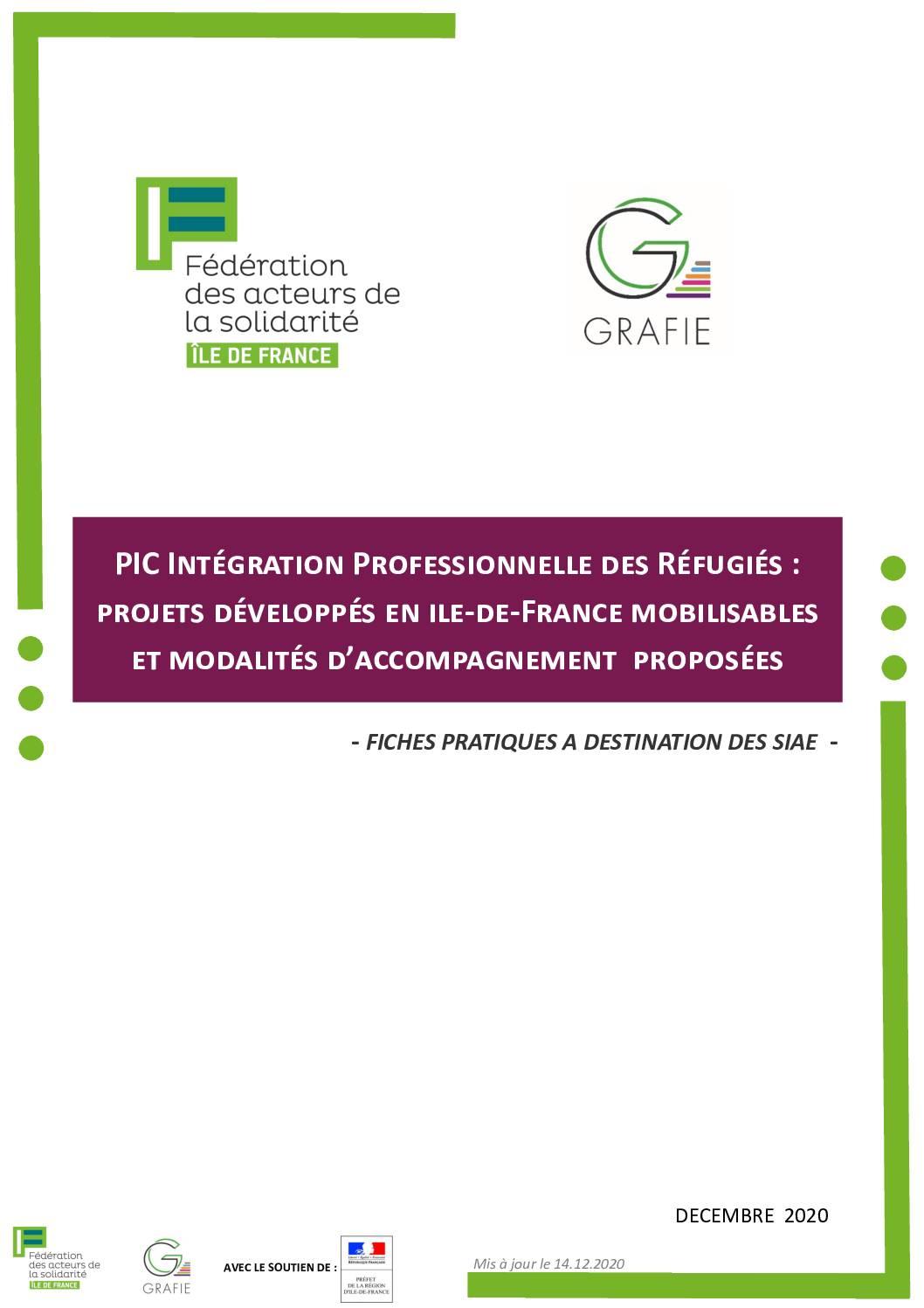 kit de présentation des lauréats de l'appel à projet pour l'intégration professionnelle des réfugiés