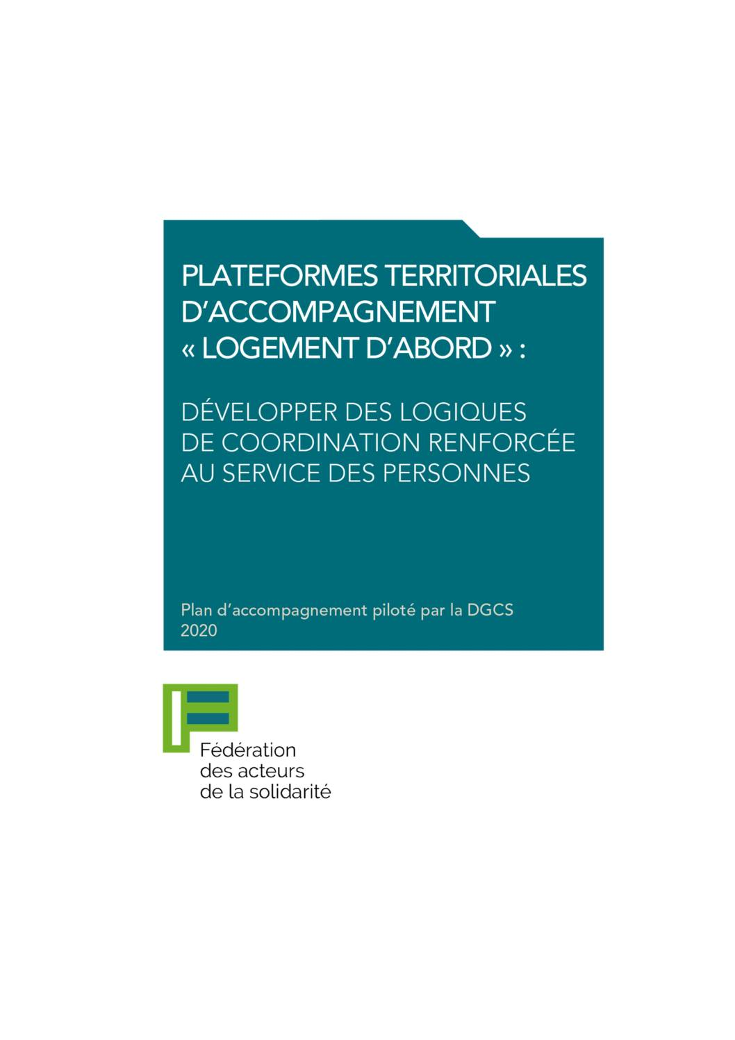 Plateforme territoriales d'accompagnement