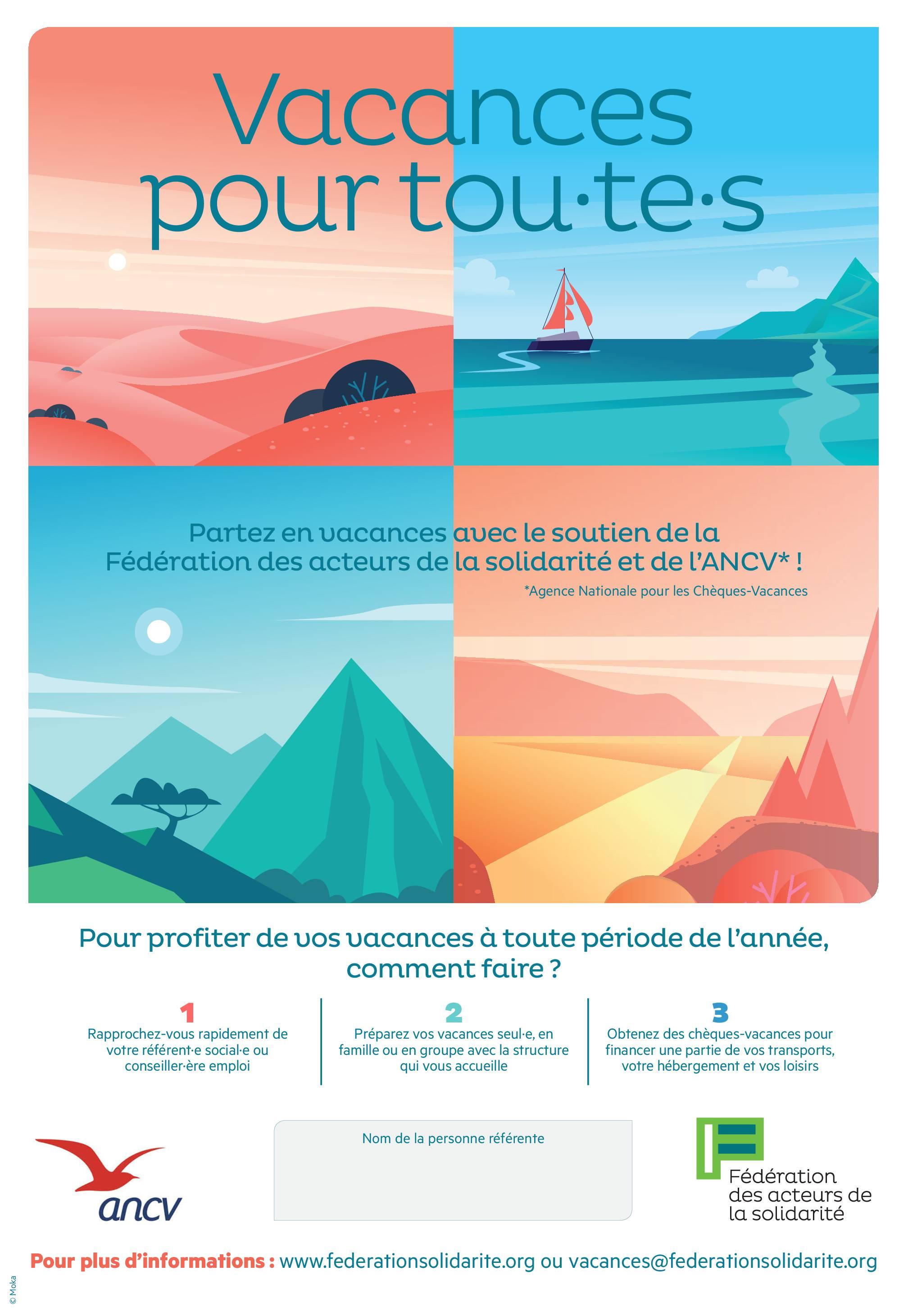 Affiche - Vacances pour tou.te.s