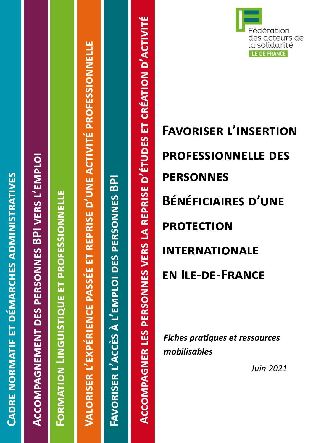Accès à l'emploi et à la formation des personnes BPI en Ile-de-France - fiches pratiques et ressources mobilisables